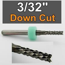 """3/32"""" x.465"""" LOC  Down Cut Router - Diamond Flutes - Solid Carbide CNC R178"""