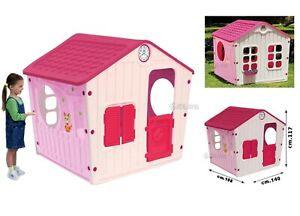 casa gioco per bambini grande casetta da giardino idea regalo altezza cm. 118