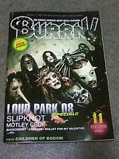 Burrn Nov/2008 Slipknot Motley Crue Buckcherry Carcass Bullet For My Valentine
