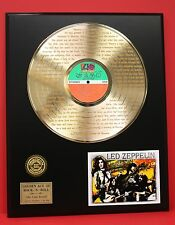 LED ZEPPELIN ART LP GOLD PLATED ALBUM/DISC AWARD STYLE COLLECTIBLE LTD EDITION