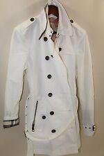 Burberry Brit Short Cotton Blend Technical Trench Coat Size 12