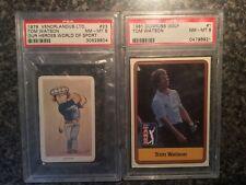RARE 1979 VENORLANDUS & 1981 DONRUSS TOM WATSON PSA-8 NM-MT ROOKIE LOT!! AWESOME