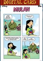 topps collect Disney Mulan Princess Charisma Comic Card 4/5 2020