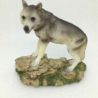 WOLF FIGURINE Standing on Rocks Animal Wolves Wildlife Gift Decor