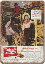 """1958 Madelyn Darrow Miss Rheingold Beer Ad 10"""" x 7"""" Reproduction Metal Sign E233"""