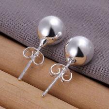 925 Silver Plated 8mm Earrings Women Anti Allergic Hot Sale New Earring Jewelry