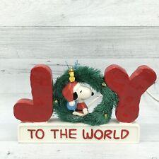 2012 Dept 56 Peanuts Snoopy Joy To The World Ceramic Lighted Figure