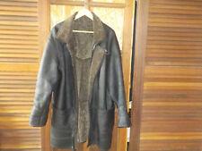 Manteau 3/4, peau lainée/Cuir. Noir. T. 48 - Homme, comme neuf.