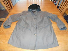 Women's Olive Green  Hooded Over Coat /Jacket by  Gallery Petite Women's PM