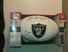 Raiders Autographed Football Ball in Box Regulation Size, Signed in Black Excel.
