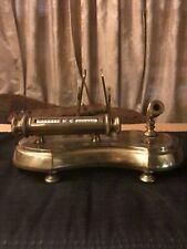 Vintage Italian Brass Perpetual Roll Calander/Letter Holder/Pen Holder