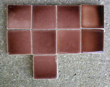 "9 pcs Lot--Pardee Ceramic Red-Brown wall tile. 2"" x  2"" Architectural Salvage"