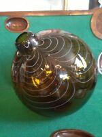 Large Alberto Dona 2004 Murano Hand Blown Swirled Art Glass Bottle Italian