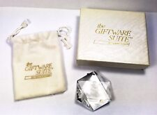 SWAROVSKI GIFTWARE SUITE 1986 HOLIDAY ETCHINGS ANGEL XMAS ORNAMENT RARE LIMITED