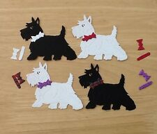 8 x Die Cut Westie/Scottie Dog Card Toppers   Card Making Crafts Party Invites