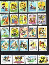 W475 Walt Disney Lotto 24 Francobolli diversi  MNH**