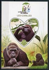 Madagascar 2017 MNH Gorillas 1v S/S Gorilles Gorilla Wild Animals Stamps