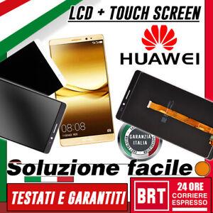 DISPLAY LCD+TOUCH SCREEN ORIGINALE PER HUAWEI MATE 8 NXT-L29 VETRO SCHERMO! 24H!