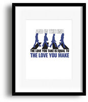 The End by the Beatles - Song Lyric Visual Art Print Poster - Wall Home Decor