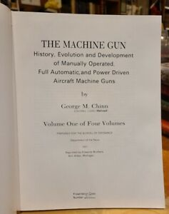 The Machine Gun V. 1 WWII & Korea US & Allies George Chinn Reprint HC Reference