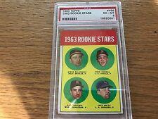 1963 Topps #496   -  Jack Smith / Carl Bouldin / Steve Dalkowski  PSA 6