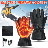 Rechargeable Electric Warm Fast Heated Gloves Motorcycle Bike Winter