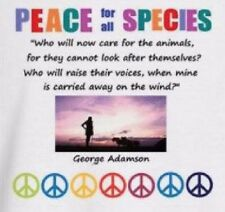 George Adamson PEACE FOR ALL SPECIES T-Shirt WILDLIFE Conservation ECOLOGY Lions