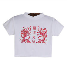 Turtle Neck Crop Top Girls Sexy New Tee Chinese Letter Print Tshirt Short Sleeve