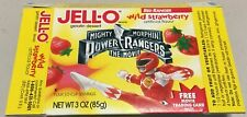 1995 Jello Mighty Morphin Power Rangers Red Ranger Box and Trading Card 3 oz