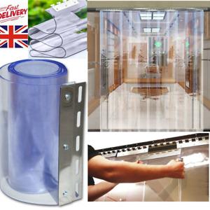PVC Strip Curtain Freezer Room Durable Pedestrian Door Strip Kit & Hanging Rail