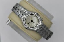 Tag Heuer Alter Ego Watch Women WP1317.BA0751 Mint Crystal White MOP 30 Diamonds