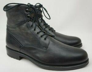 Magnanni Patton Grey Leather Plain Toe Men's Boots Size US 11 D