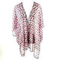 Band of Gypsies Women's Sheer Kimono BOHO Cardigan Size S  Print