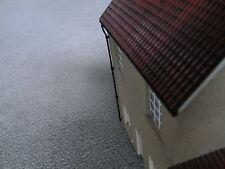 O gauge. 1:43 scale. Model Railway Building parts. Roof guttering x4