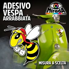 ADESIVO STICKER VESPA ARRABBIATA 1 AUTO MOTO RACE GARA DIVERTENTE TUNING SCOOTER