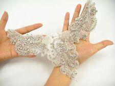 Rhinestone Neckline Wedding Applique Crystal Dancing Dress Diamante Costume Trim