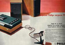 PUBLICITE ADVERTISING 025  1967  PHILIPS  hi-fi magnétophone stéréo-cassette (2p