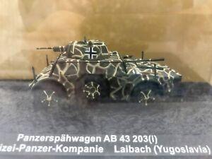 """DIE CAST """" PANZERSPAHWAGEN AB 43 203(I) LAIBACH 1944 """" SCALA 1/72"""