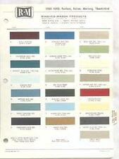 1968 FORD R-M COLOR PAINT CHIP CHART ALL MODELS ORIGINAL MUSTANG