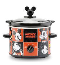 Disney Mickey Mouse 2 Quart Slow Cooker Crockpot, Removable Stoneware Insert