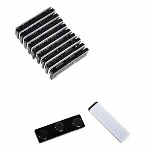 Cosmos 10 Sets Name Badges Name Tags ID Holders with Magnetic Backing Attachment