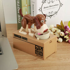 Cute Money Saving Box Piggy Bank Kids Gift Automatic Dog Puppy Coin Moneyboxes