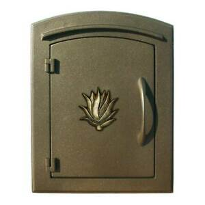 """Manchester Security Drop Chute Mailbox with """"Decorative AGAVE Logo"""" Faceplate..."""