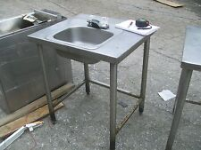 HAND SINK/STAND COMBO, ALL STAINLESS STEEL UNIT, FREE STANDING,900 ITEMS MORE