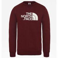 The north face drew peak crew deep garnet red felpa new s m l xl