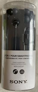 Genuine Sony MDR-EX15AP Fashion Color EX Series Headphone Earbud, Black