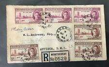 VICTORY : 1946 MONTSERRAT 3 pairs on plain First Day Cover