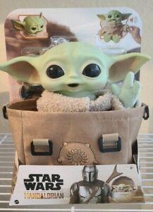 Star Wars The Child Plush Premium Bundle Talking Baby Yoda Mandalorian Bag GROGU