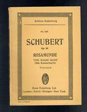 Schubert, Franz; Rosamunde The Magic Harp. Ernst Eulenburg 1960 VG