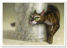 CAT on the hunt  Funny Comic Fantasy ART Russian Modern Postcard